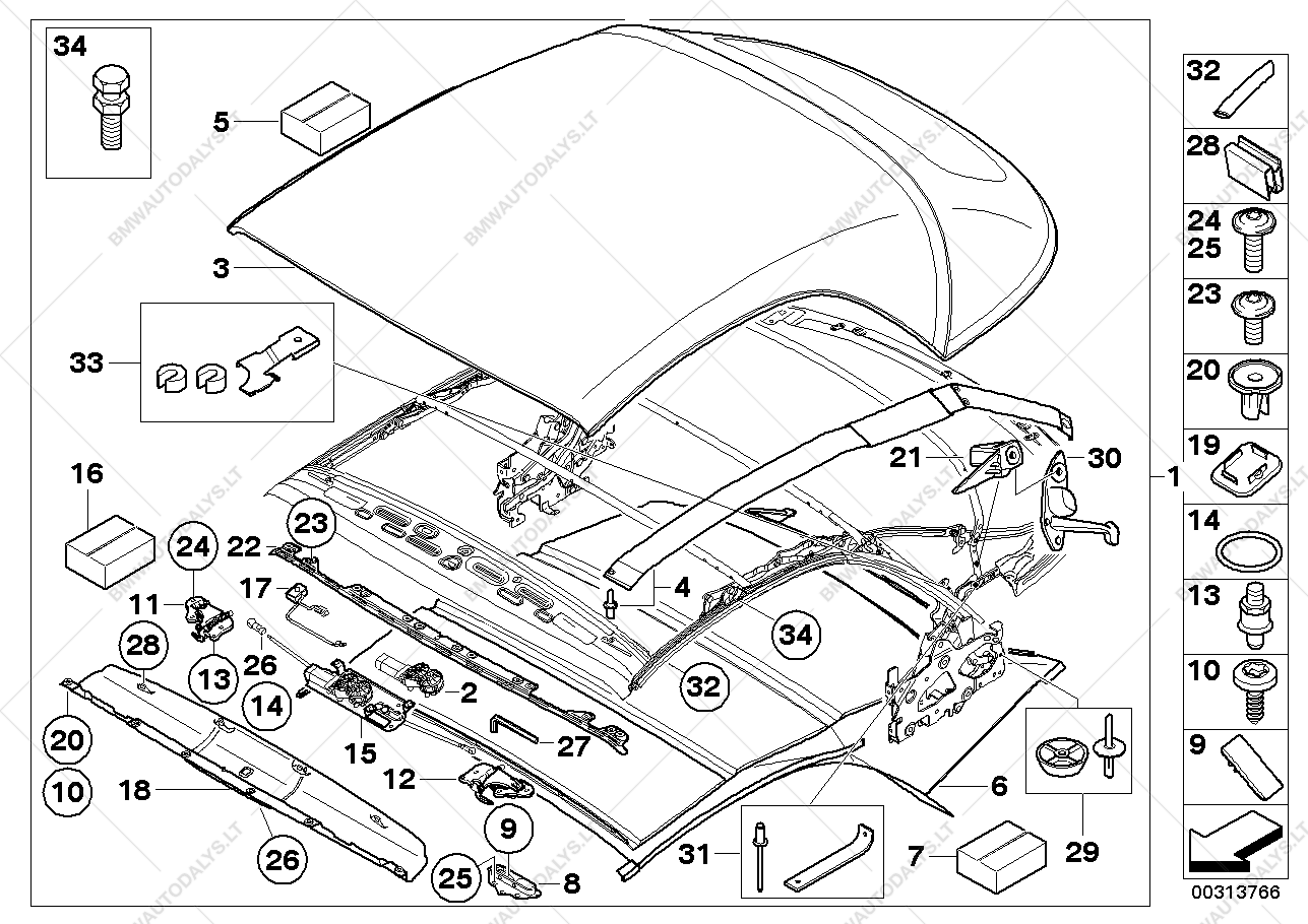 Parts list is for bmw 1' e88 135i n55 convertible usa