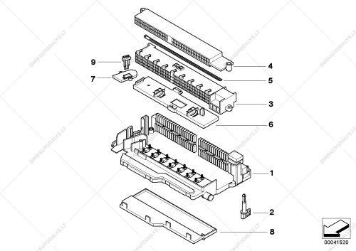 small resolution of single components for fuse box for bmw x3 e83 lci x3 2 0d sav rus