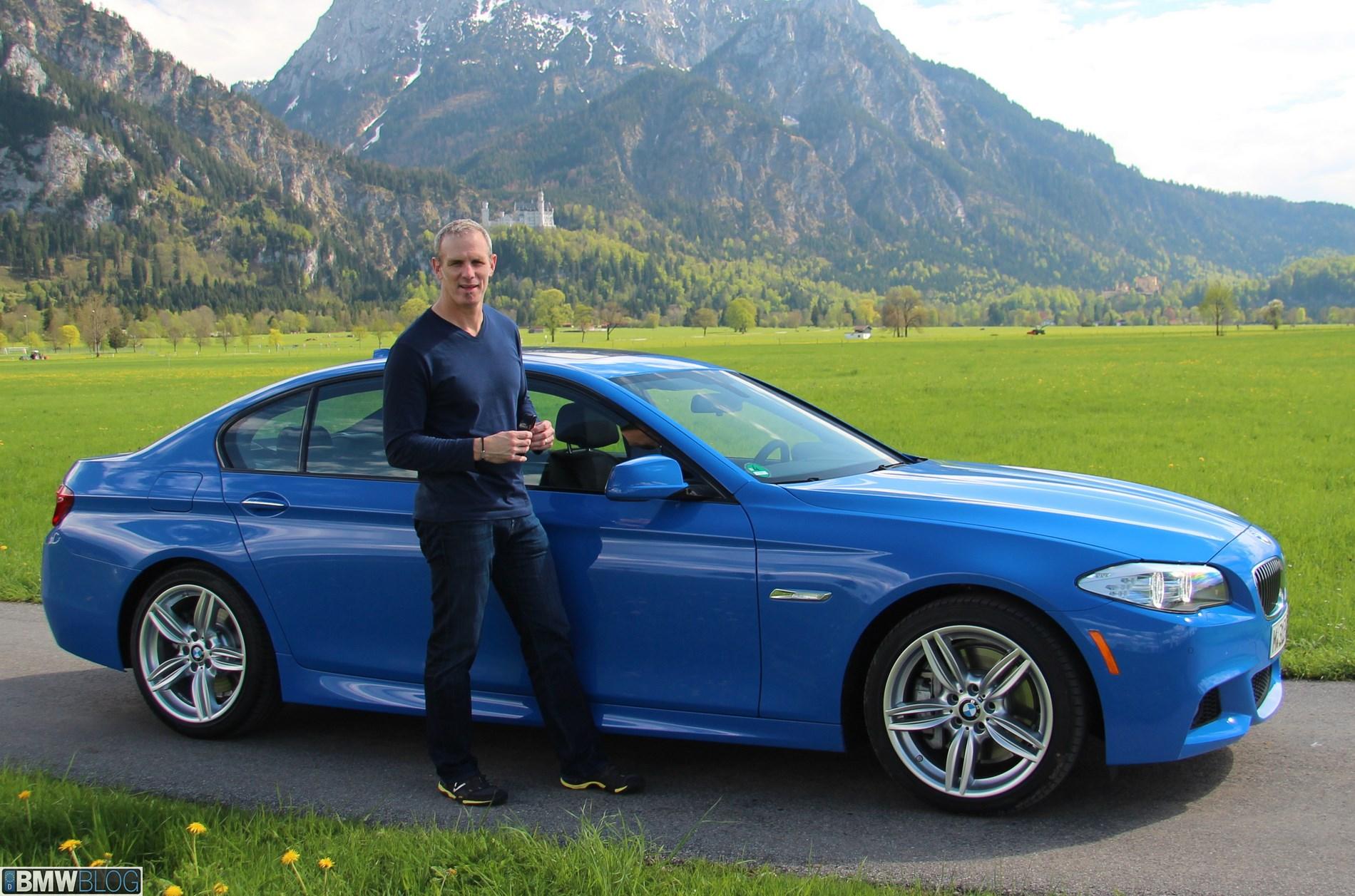 BMW European Delivery of BMW 535i Santorini Blue