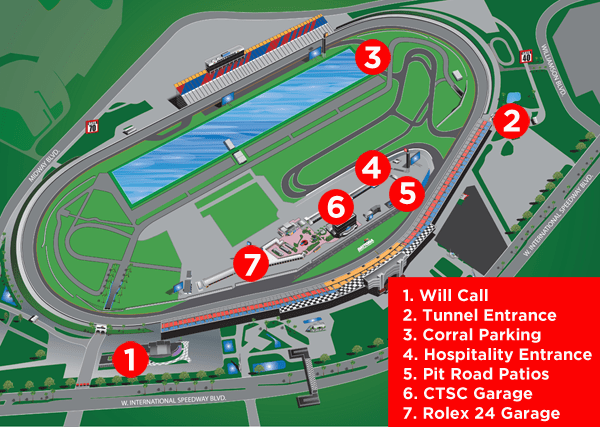 Rolex 24 Daytona Track Map