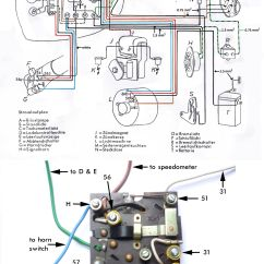 Bmw R51 3 Wiring Diagram Animal Cell Parts List R68 Salis 1953 1955 With Brake Light