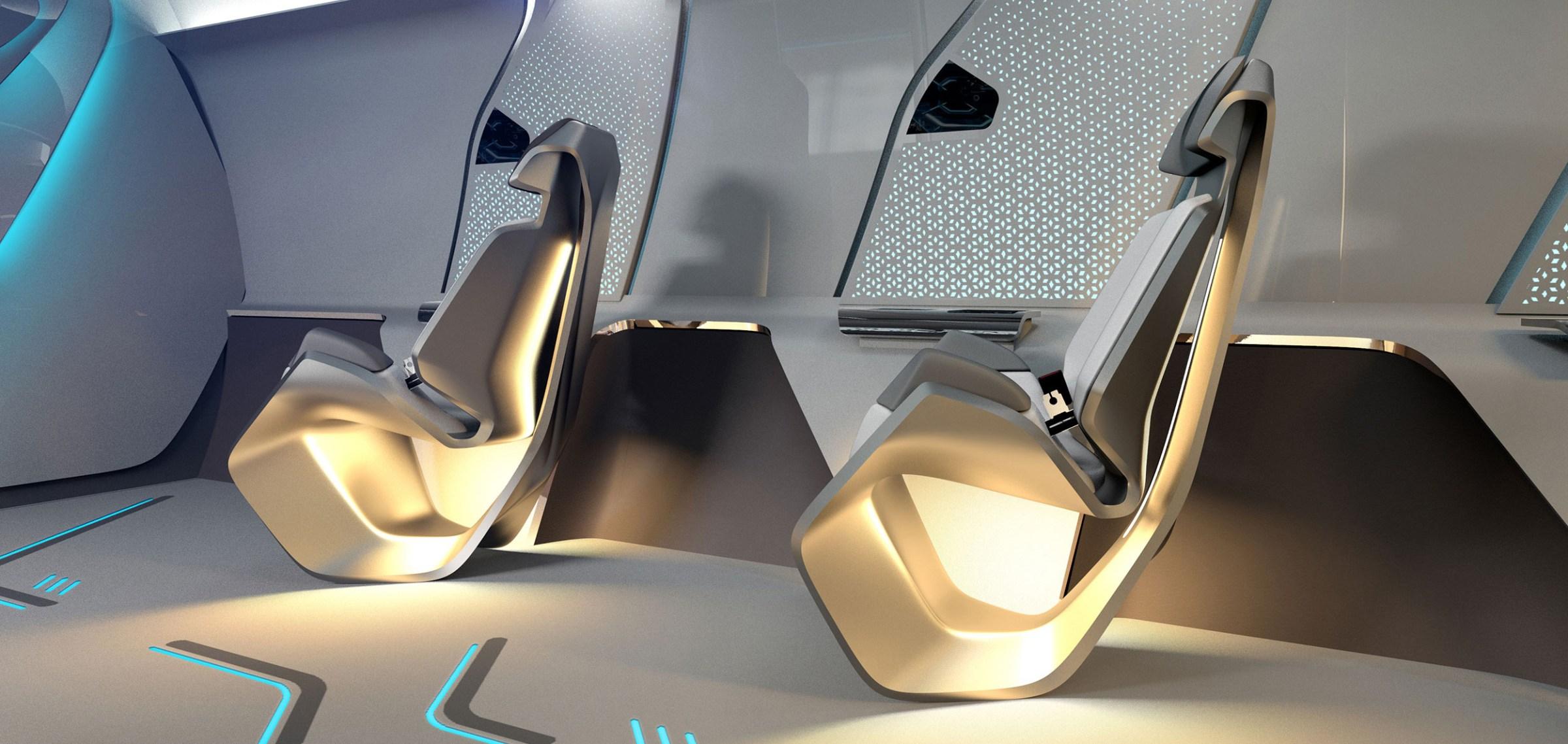 hyperloop one capsule seats