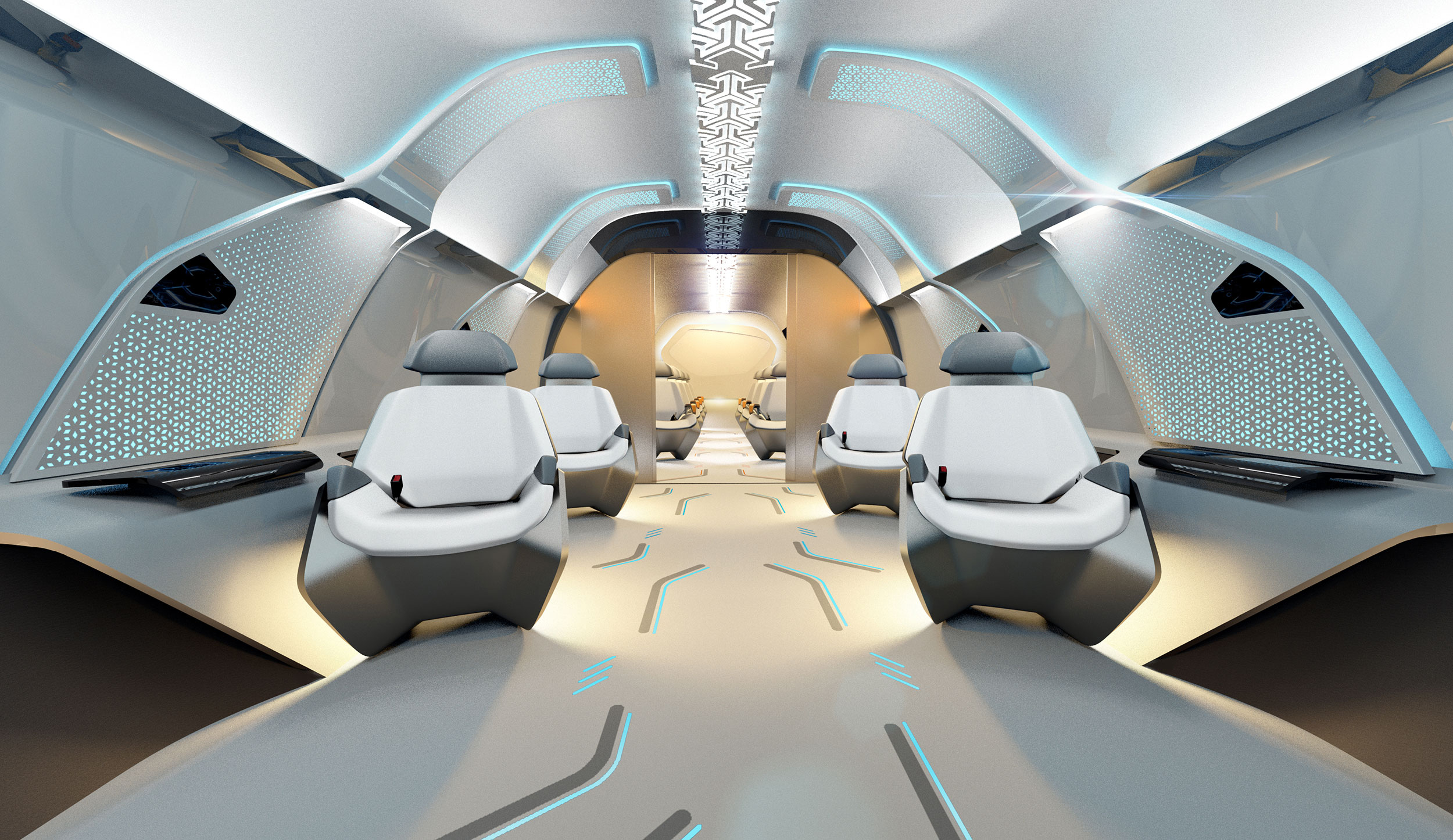 hyperloop seats in capsule