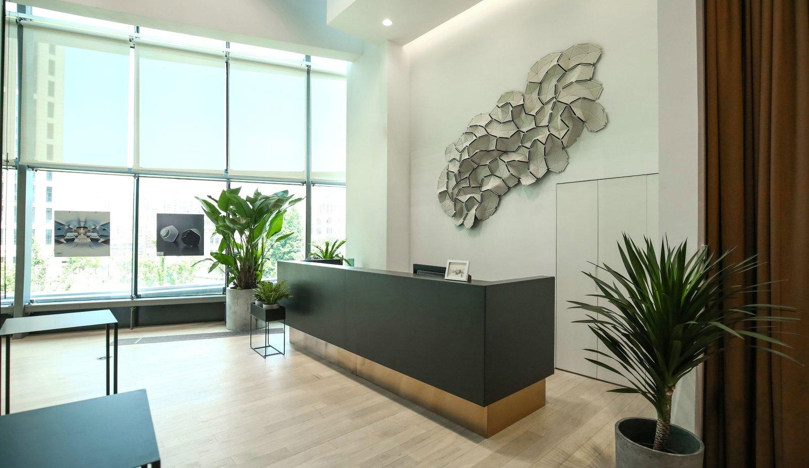 reception at designworks studio shanghai