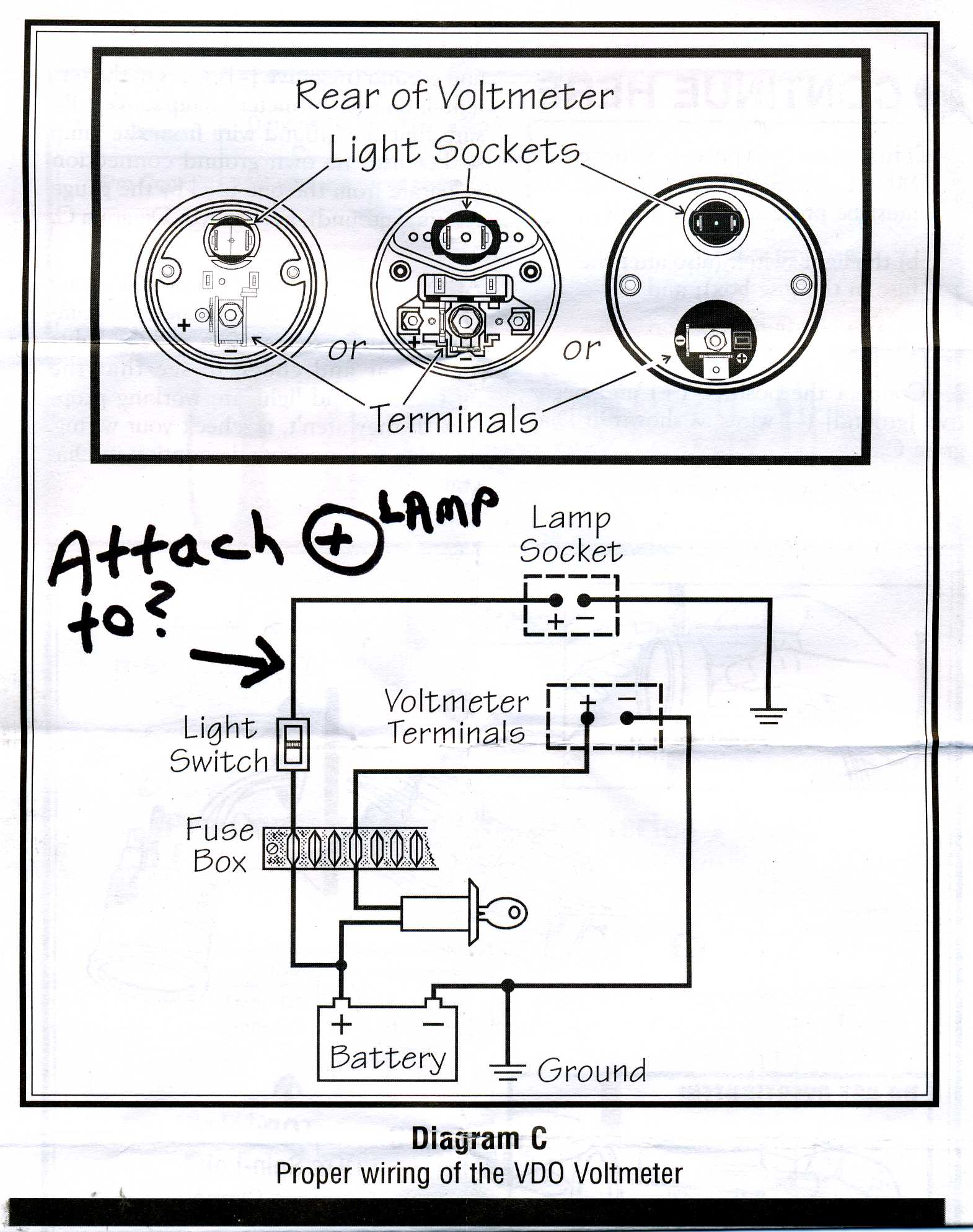 Voltmeter Instrument Light Power Source: Suggestions