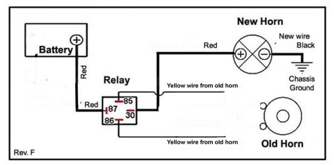 horn wiring diagram for motorcycle wiring diagram electronics v star 1100 wiki knowledge base 12 volt relay wiring diagram