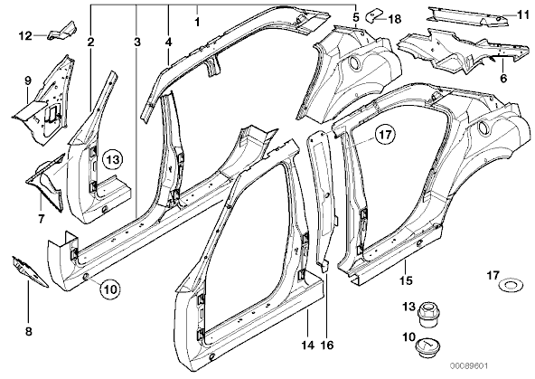 Auto Body Parts: Exterior Auto Body Parts Diagram