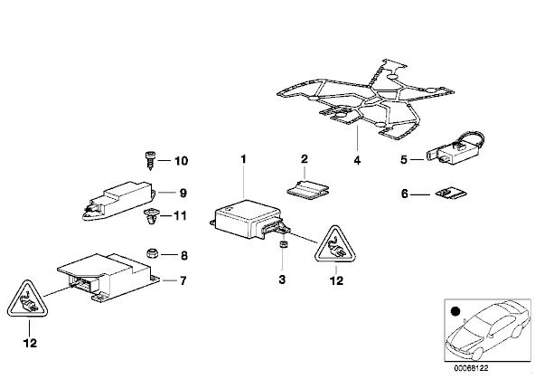 01 740i airbag main module brain ,location,help!