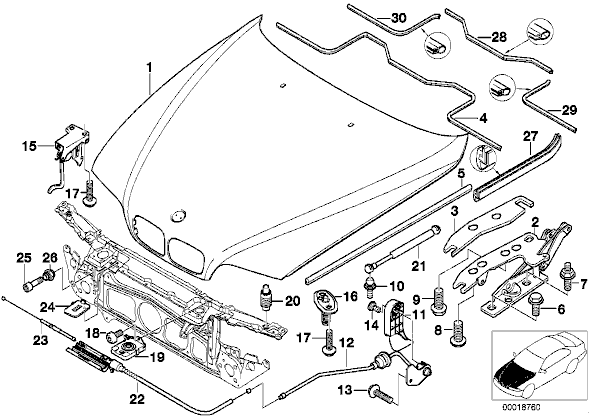 Hood Latch Diagram