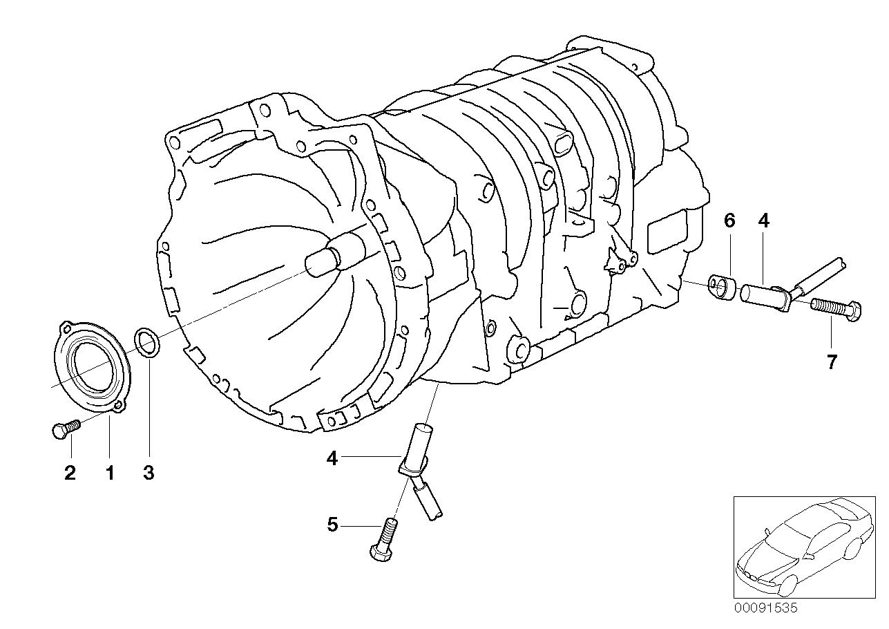 2003 BMW 325Ci Coupe M54 Engine(E46) Seals / Speed Sensor