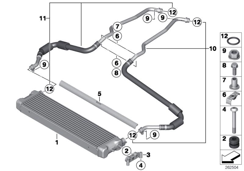 2013 BMW M5 Sedan(F10) Engine Oil Cooler / Oil Cooler Line