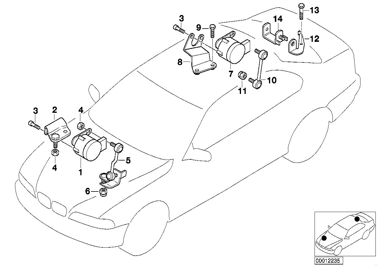 2003 BMW 325Ci Coupe M54 Engine(E46) Headlight Vertical