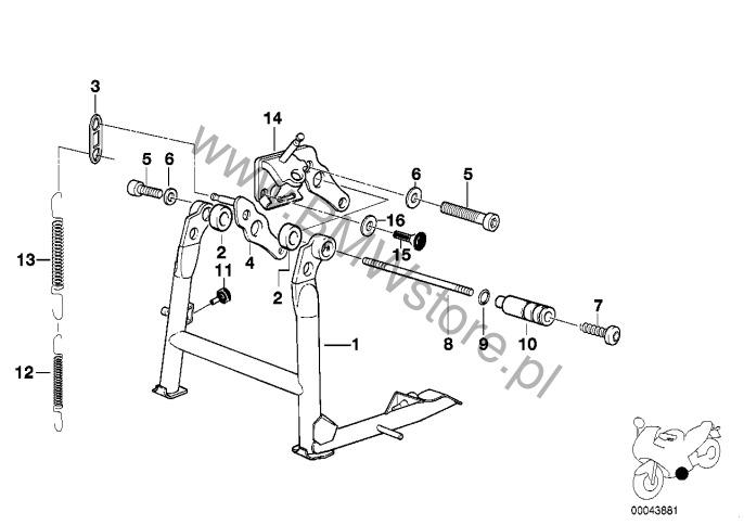 Podstawka centralna BMW R21 (R 1150 GS) R 1150 GS 00 (0415