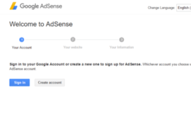 Sign in for AdSense Account