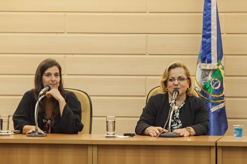 Desembargadora Dra. Denise Levy Tredler, diretora de Direitos Humanos da B'nai B'rith Rio (direita), dra.Sofia Débora Levy