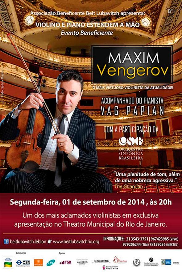 Vengerov em apresentações beneficentes em São Paulo e Rio