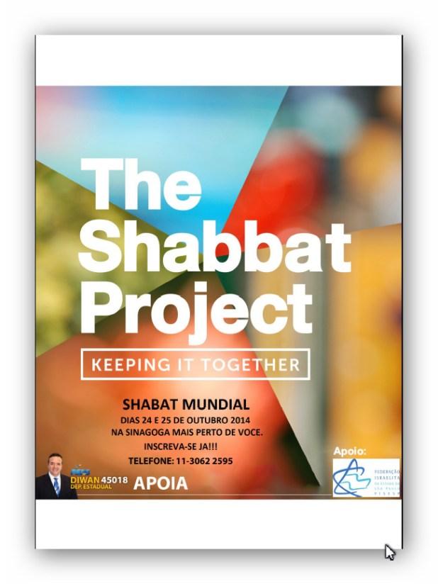 Shabat Mundial deve mobilizar os judeus