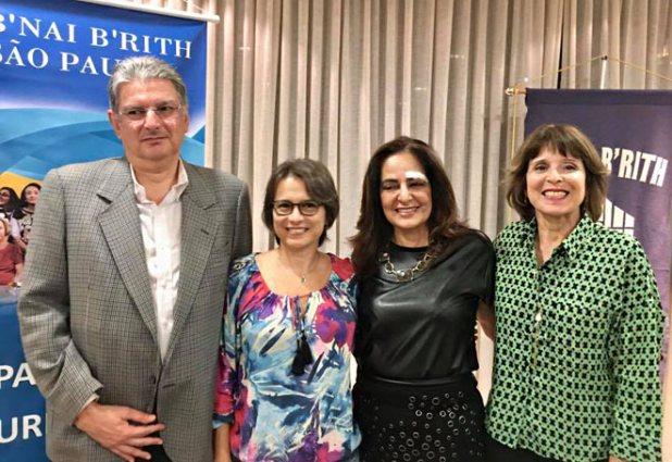 """aconteceu ontem à noite na B'nai B'rith com a escritora Miriam Sanger sobre o livro""""A Força da Mentira"""