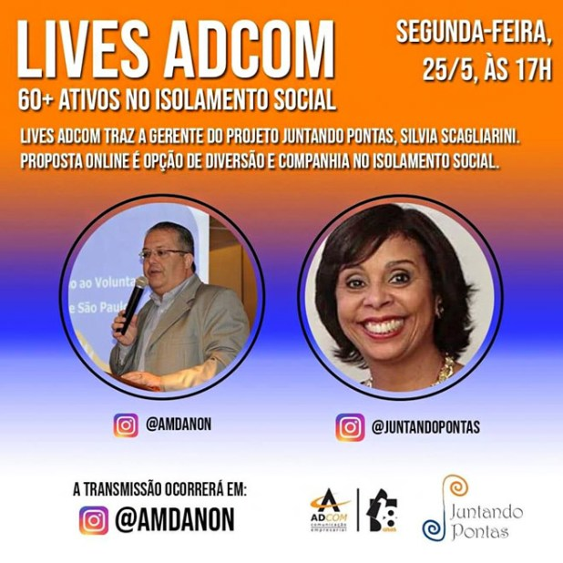 Save the date para a live sobre os 60+ ativos no isolamento social