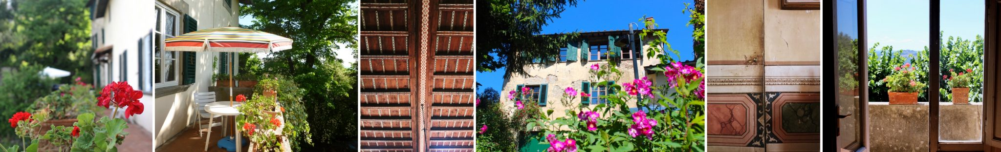 Impressions of our B&B La Rocca in Carmignano, Tuscany (Italy)