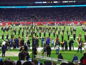 Grambling State University Band on the field