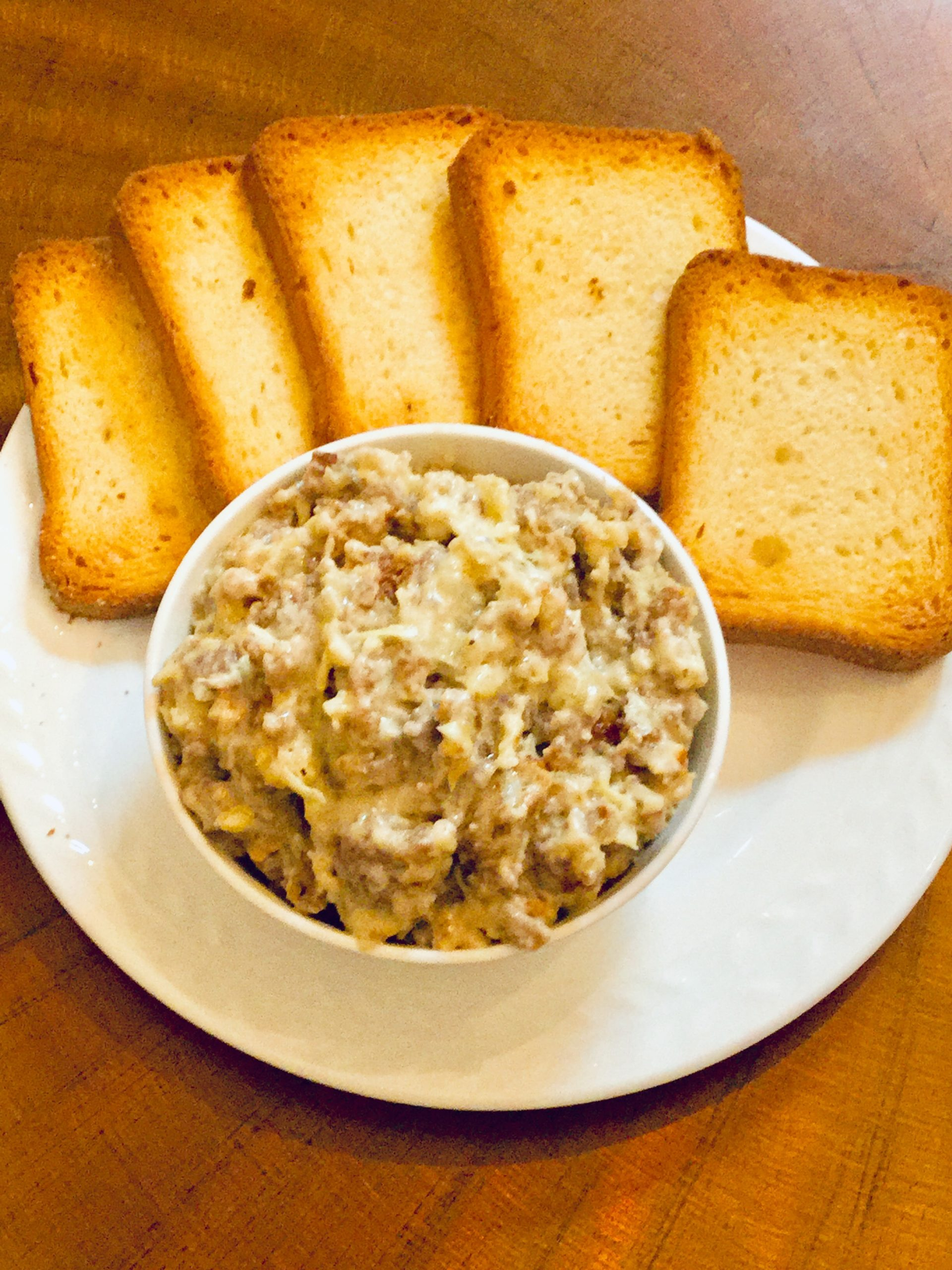 Sausage and Artichoke Hot Dip