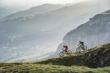 Biker in den Bergen