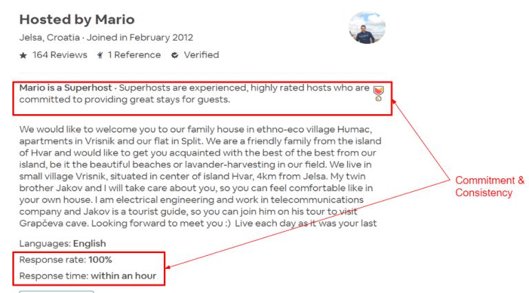 Airbnb Describe Yourself Example -1
