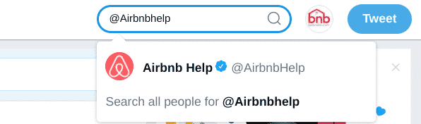 Search for @Airbnbhelp on Twitter
