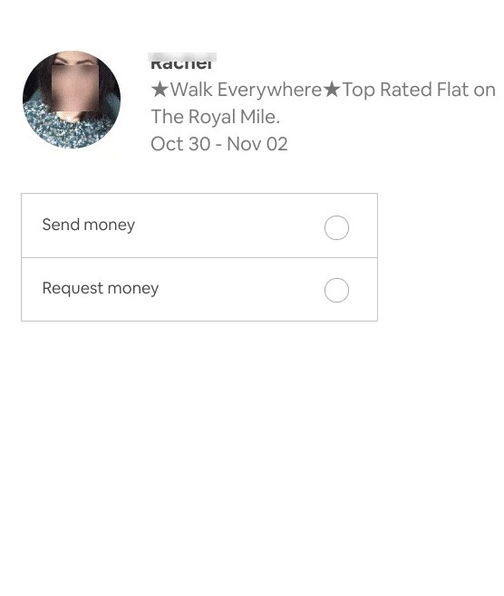 Send or request money