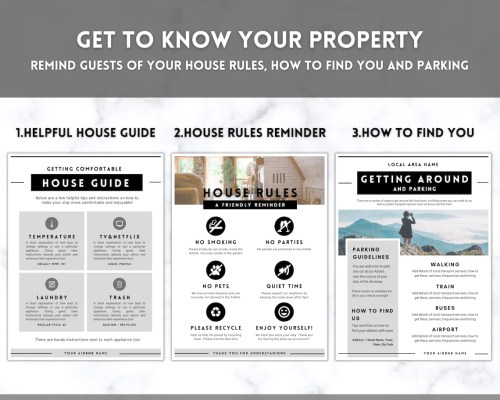 Airbnb welcome book guide