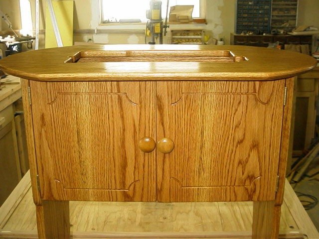 Oak Cabinet Fancy Doors