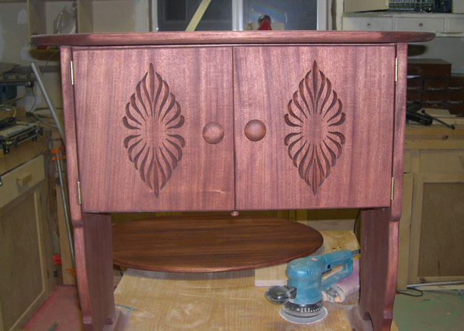 Mahogany Cabinet Carved Doors