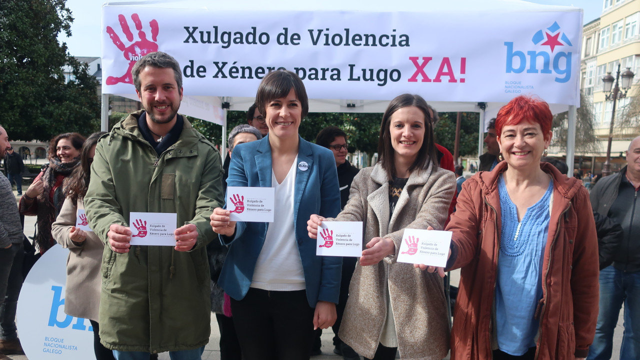 """Ana Pontón pide a Feixóo """"que traballe"""" para que Lugo teña un xulgado contra a violencia machista"""