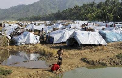 Fire broke out at Arakan Muslim refugee camp