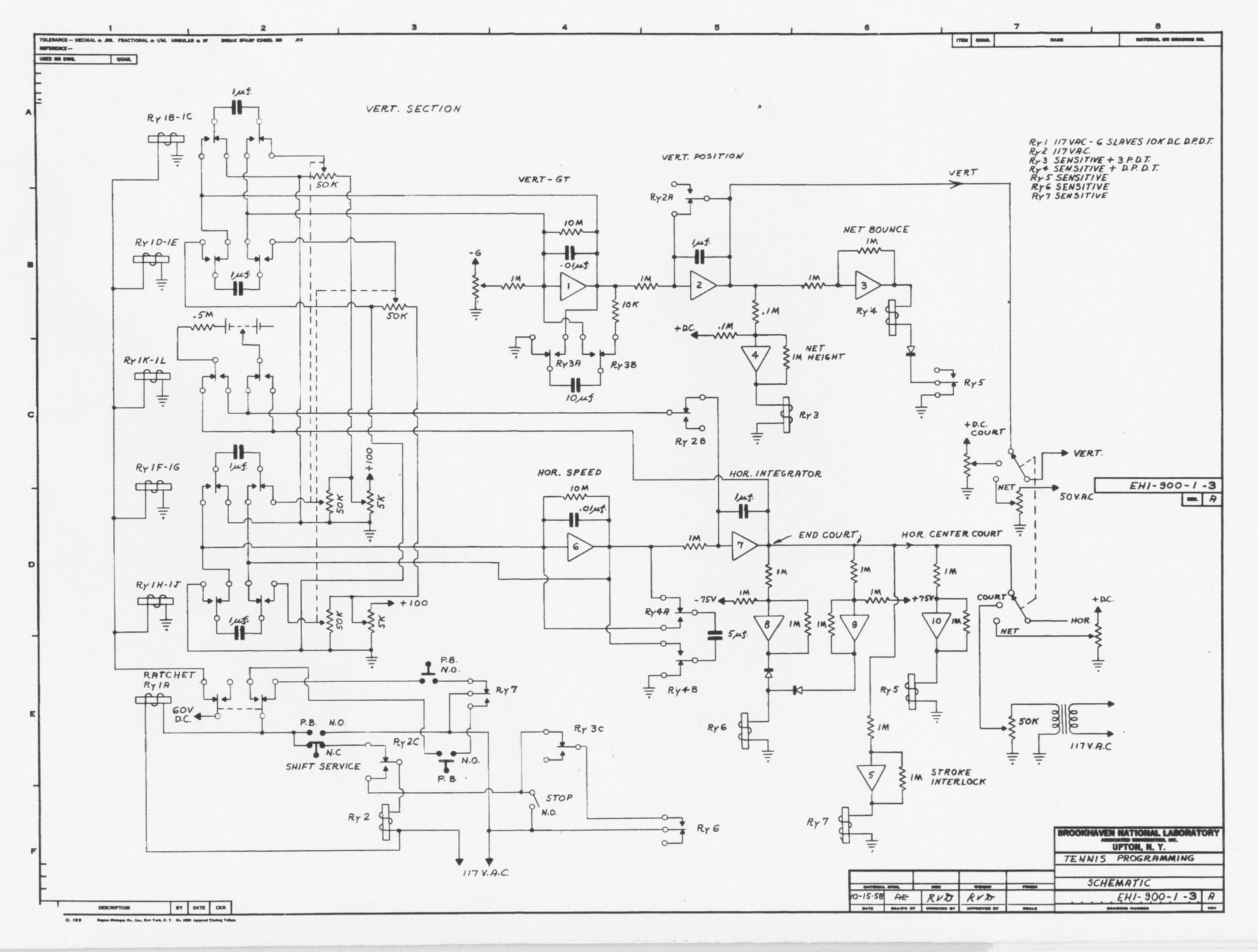 Schematic For Possibly The World S First Video Game