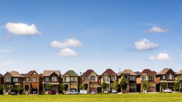 Houses are seen in a suburb located north of Toronto in Vaughan, Canada, June 29, 2015.