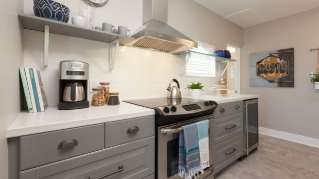 kitchen upgrade gray island renovation could boost a home s value more than 12 5 says