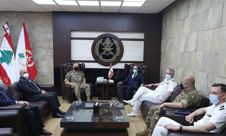 قائد الجيش عرض مع رويار وشابيل علاقات التعاون بين الجيشين اللبناني والفرنسي