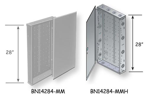 structured media panel diagram spongy bone benner nawman box categories wiring specification bn14284 mm door lid and bn14104 mmh hinged low voltage enclosure indoor service cabinet 14 1 4 wide x 28