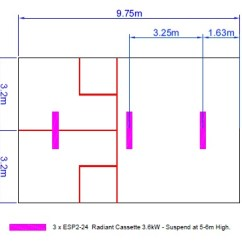 Squash Court Diagram Bar Multiplication Cost Effective Heating Bn Thermic Here Is A Link To Our Longwave Radiant Cassette Product Page