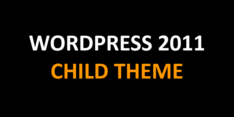 WordPress 2011 Child Theme