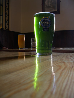 Green beer by Stringberd at Flickr
