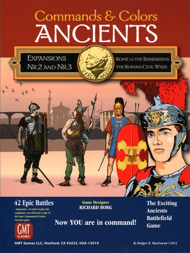 Commands and Colors: Ancients Expansions 2 and 3 - Rome vs the Barbarians; The Roman Civil Wars