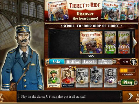 Ticket to Ride iOS - Interface