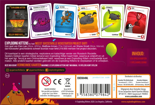 Components Exploding Kittens Party 1