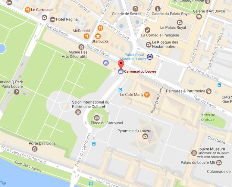Louvre alternate entrance