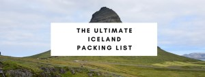 iceland packing