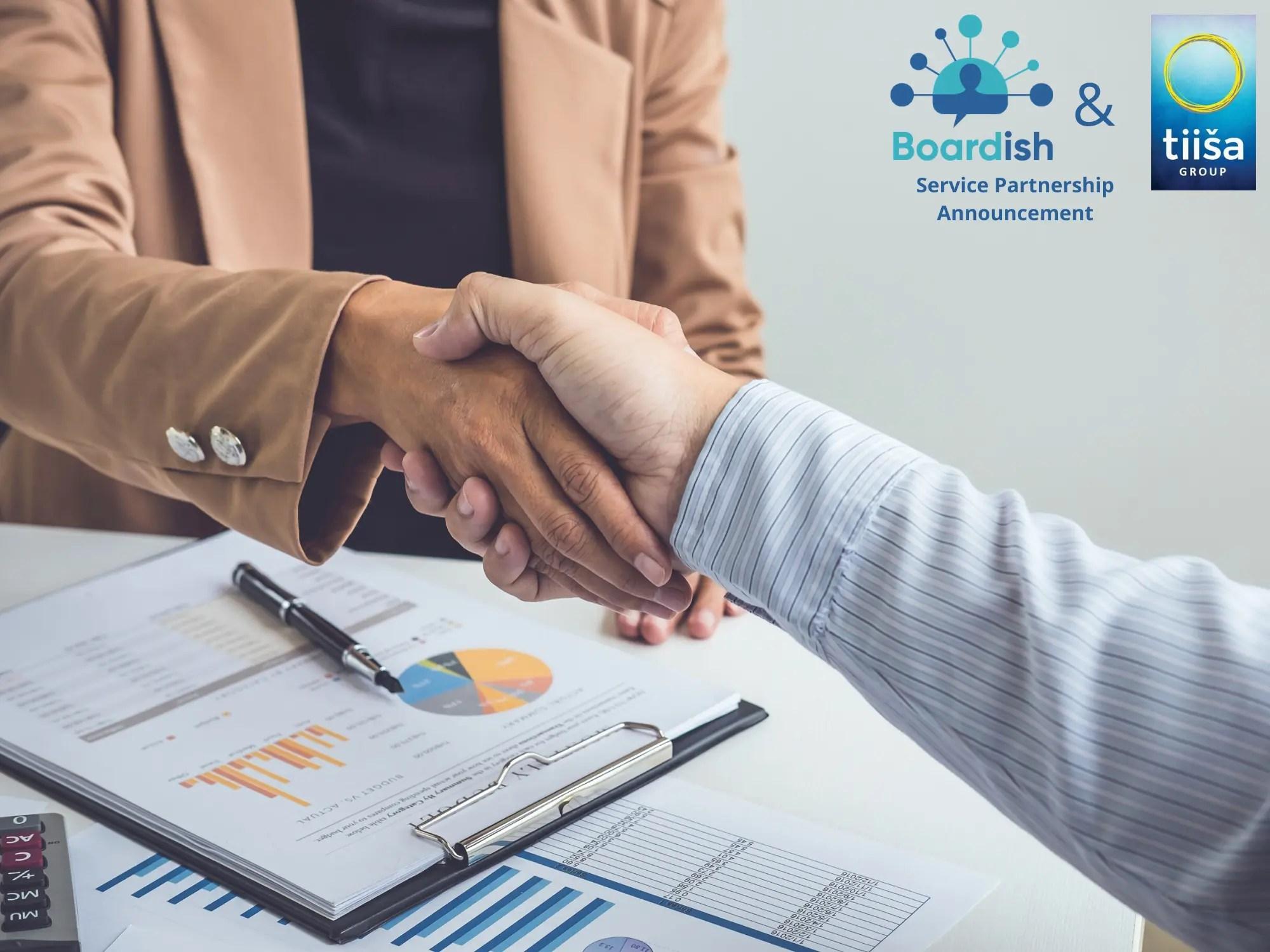 tiisa and boardish partnership announcement