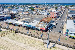 Aeriel View 4 of New Jersey Oceanfront Hotel | Bordwalk Charlee Hotel